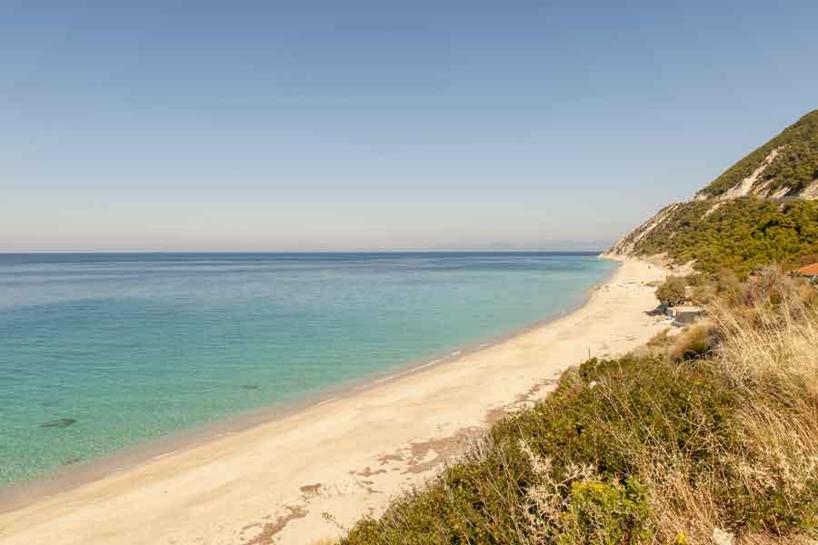 Pefkoulia beach, Lefkada, beach ridge