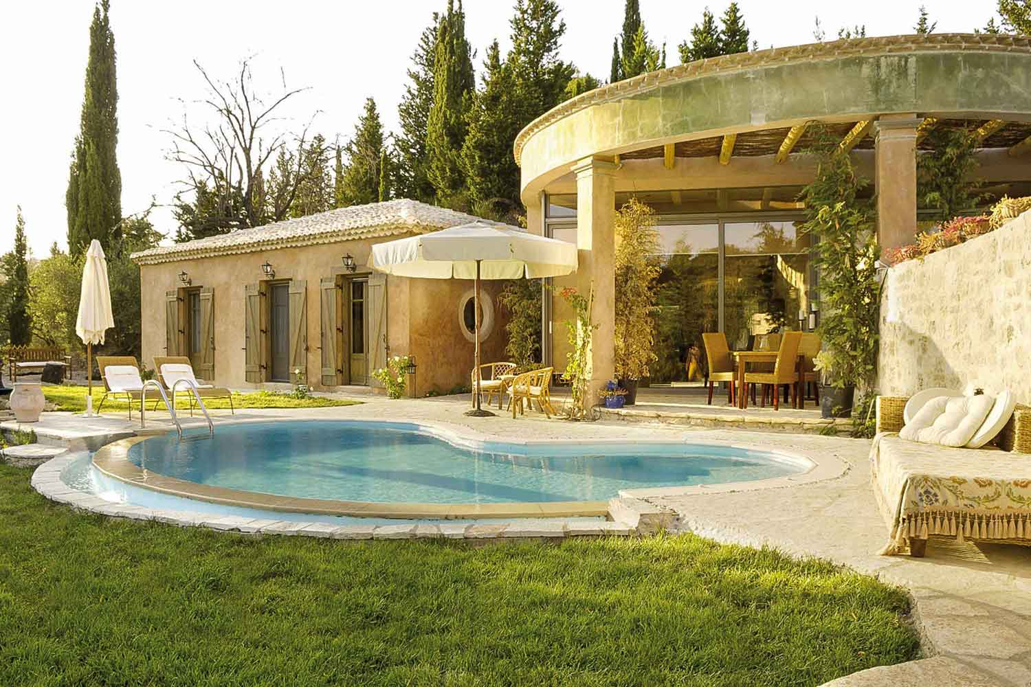 private pool villa for families, lovely pool garden