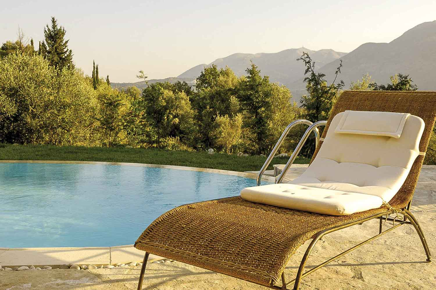 private pool villa at Ionian islands, amazing view from pool