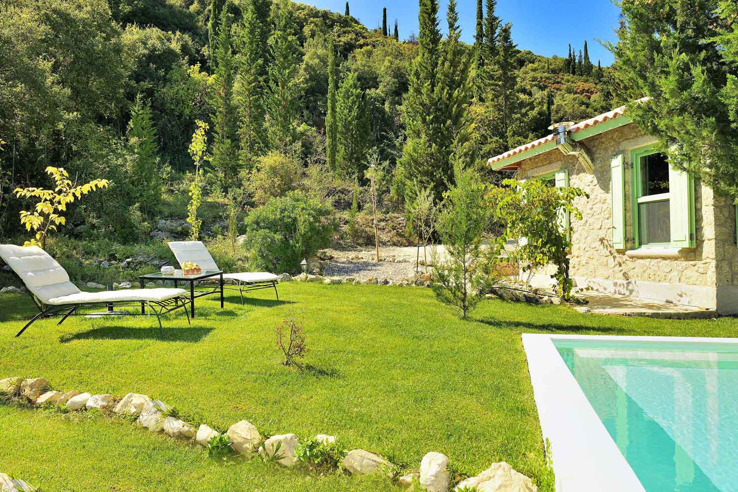 private pool villa for honey moon, beautiful garden landscape