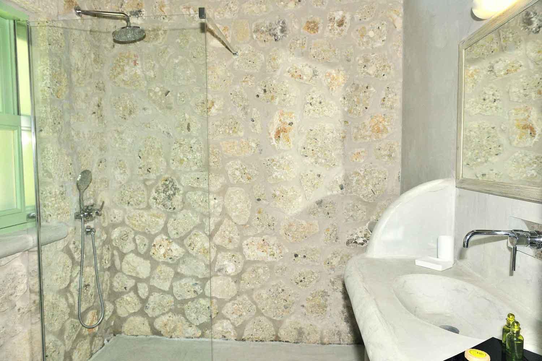 private pool villa, spacious bathroom