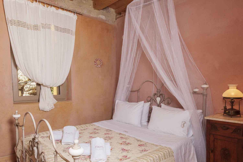 private pool villa, elegant decorated bedroom