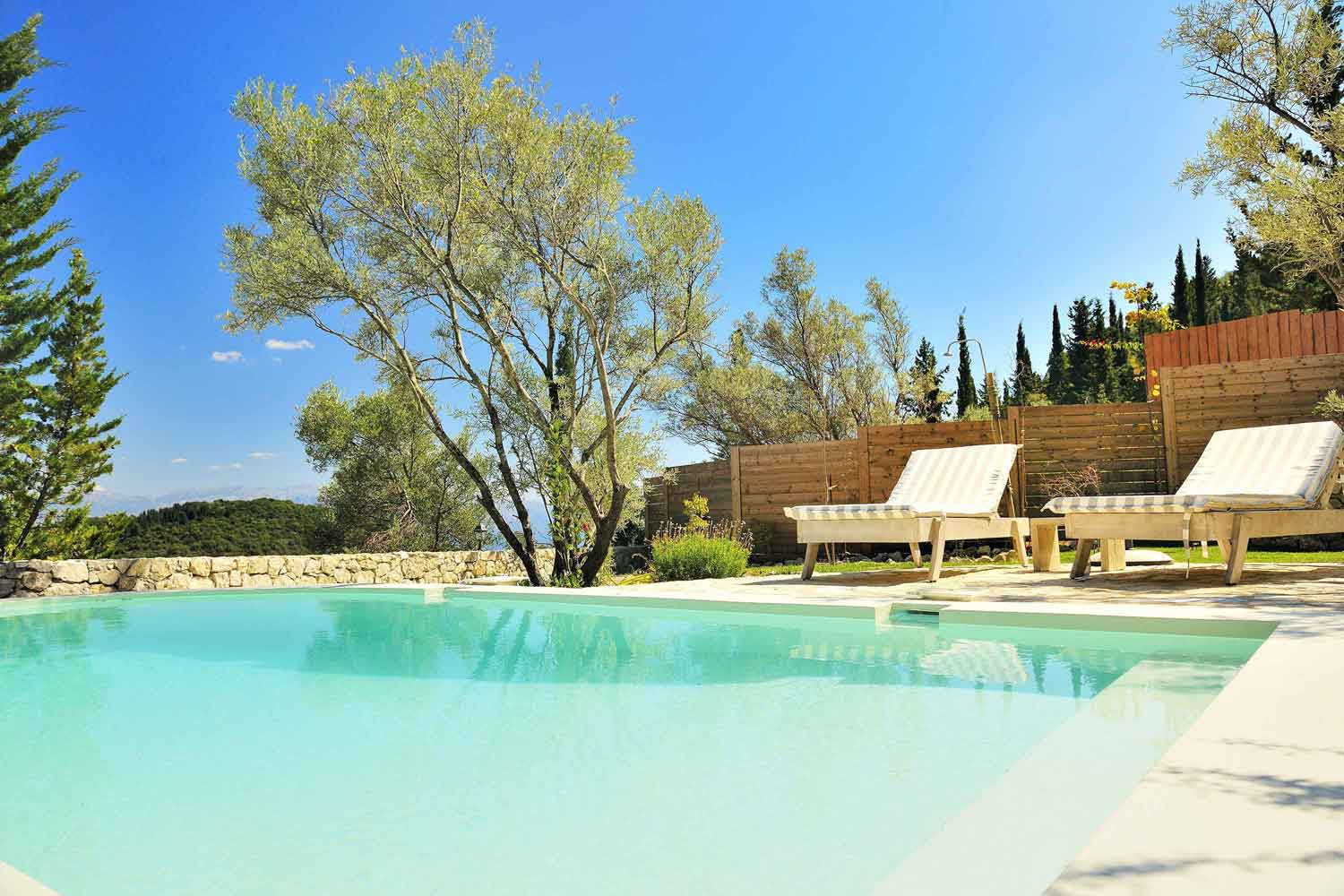 private pool villa - accommodation, amazing view from pool