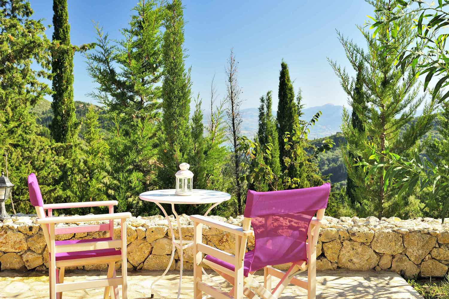 private pool villa for couples, perfect view from terrace