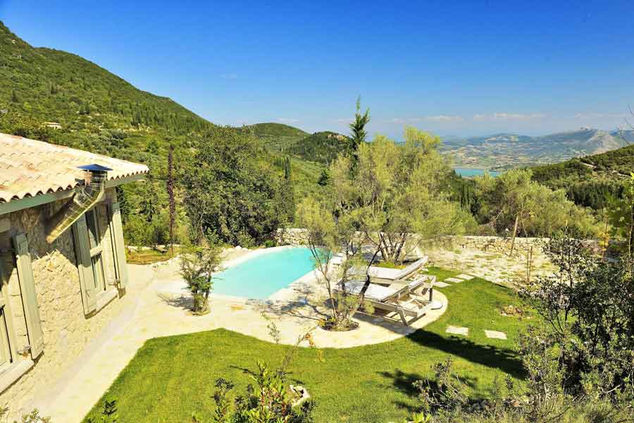 private pool villa for couples, breathtaking view from garden